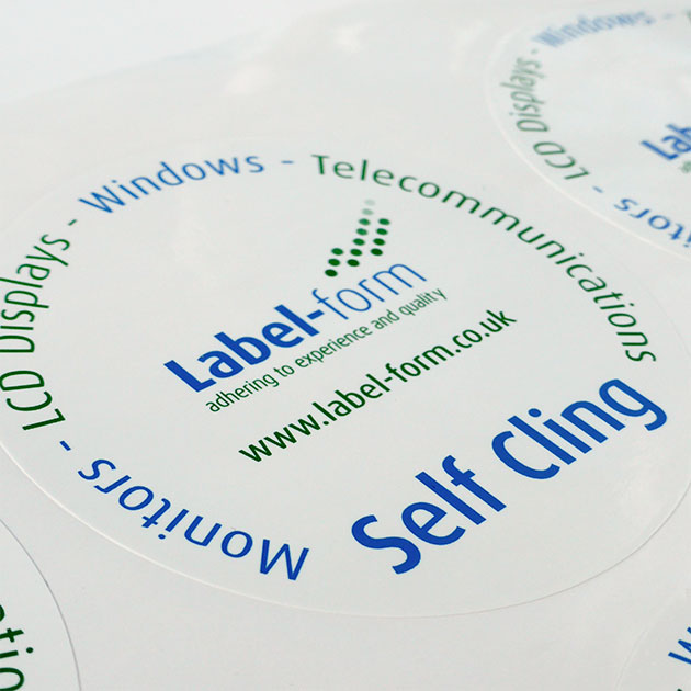 Self-cling window stickers